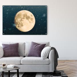 Maan tegen sterrenhemel