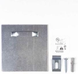 Extra sterke ophangplaat ophangsysteem met 6 kilo draagkracht voor dibond, plexiglas of metaal of aluminium