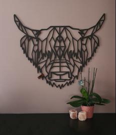 Fabryk design - Schotse hooglander: 75x65 cm zwart