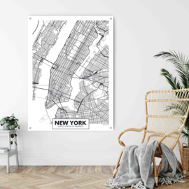 New York city map op aluminium