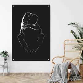 Silhouette (naakt schilderij lijntekening)