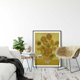 Zonnebloemen in vaas poster
