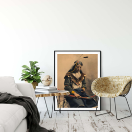 Indianen poster Native warrior