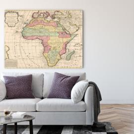 Kaart van het Afrikaanse continent