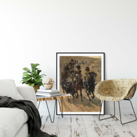 De Gele Rijders van George Hendrik Breitner poster