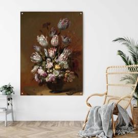 Stilleven met bloemen door Hans Bollongier