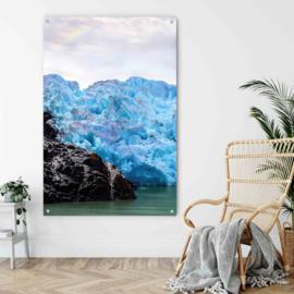 Dubbelzijdige kunst: Mountain phantasma met Glacier lago grey
