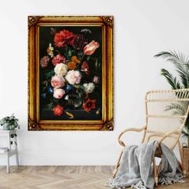 Jan Davidzs de Heem - Stilleven met bloemen in vaas met lijst