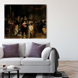 De nachtwacht van Rembrandt van Rijn op aluminium, 170x140cm zonder ophangsysteem