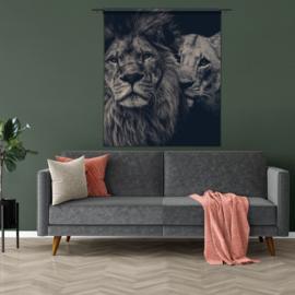 Wandkleed Leeuwen koppel