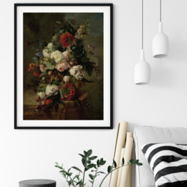 Stilleven met bloemen van Harmanus Uppink poster