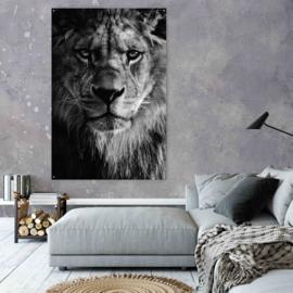 Schilderij leeuw zwart wit