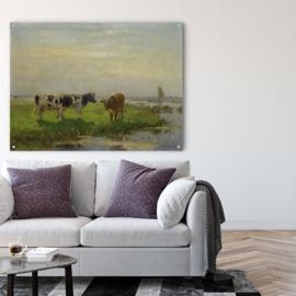 Koeien in de wei door Bernardus Antonie van Beek