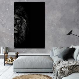 Zwart wit leeuw 60x40