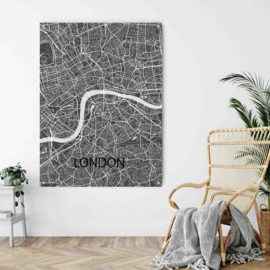London city map op metaal