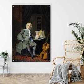 Portret van een lid van de familie Van der Mersch door Cornelis Troost