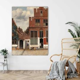 Gezicht op huizen in Delft, bekend als 'Het straatje' door Johannes Vermeer