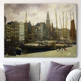 Het Damrak in Amsterdam door George Hendrik Breitner