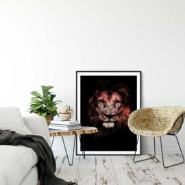 Leeuw portret poster