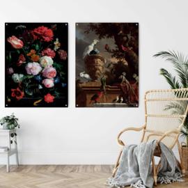 Dubbelzijdige kunst: Modern stilleven met het prachtige Menagerie