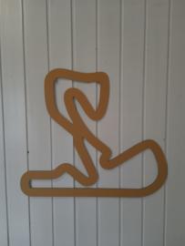 Circuit Zandvoort goud, 55x48cm