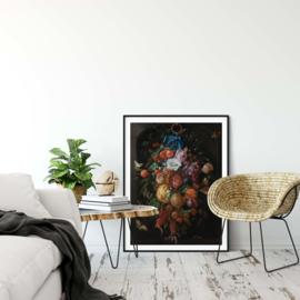 Festoen van vruchten en bloemen poster