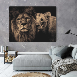 Lion couple - Sepia editie