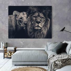 Lion couple gespiegeld