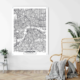 London city map op aluminium