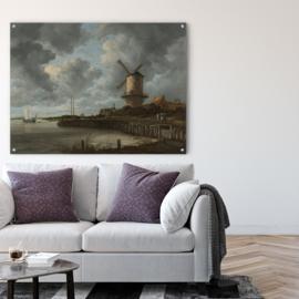 De molen bij Wijk bij Duurstede door Jacob Isaacksz. van Ruisdael