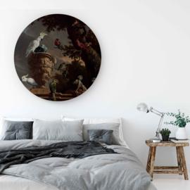 Rond schilderij van Menagerie