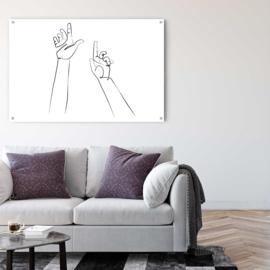 Lijntekening Hands