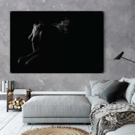 Naaktschilderij in zwart wit