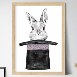 Just a rabbit habit kinderkamer poster