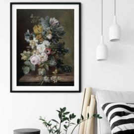Stilleven met bloemen door Eelke Jelles Eelkema poster