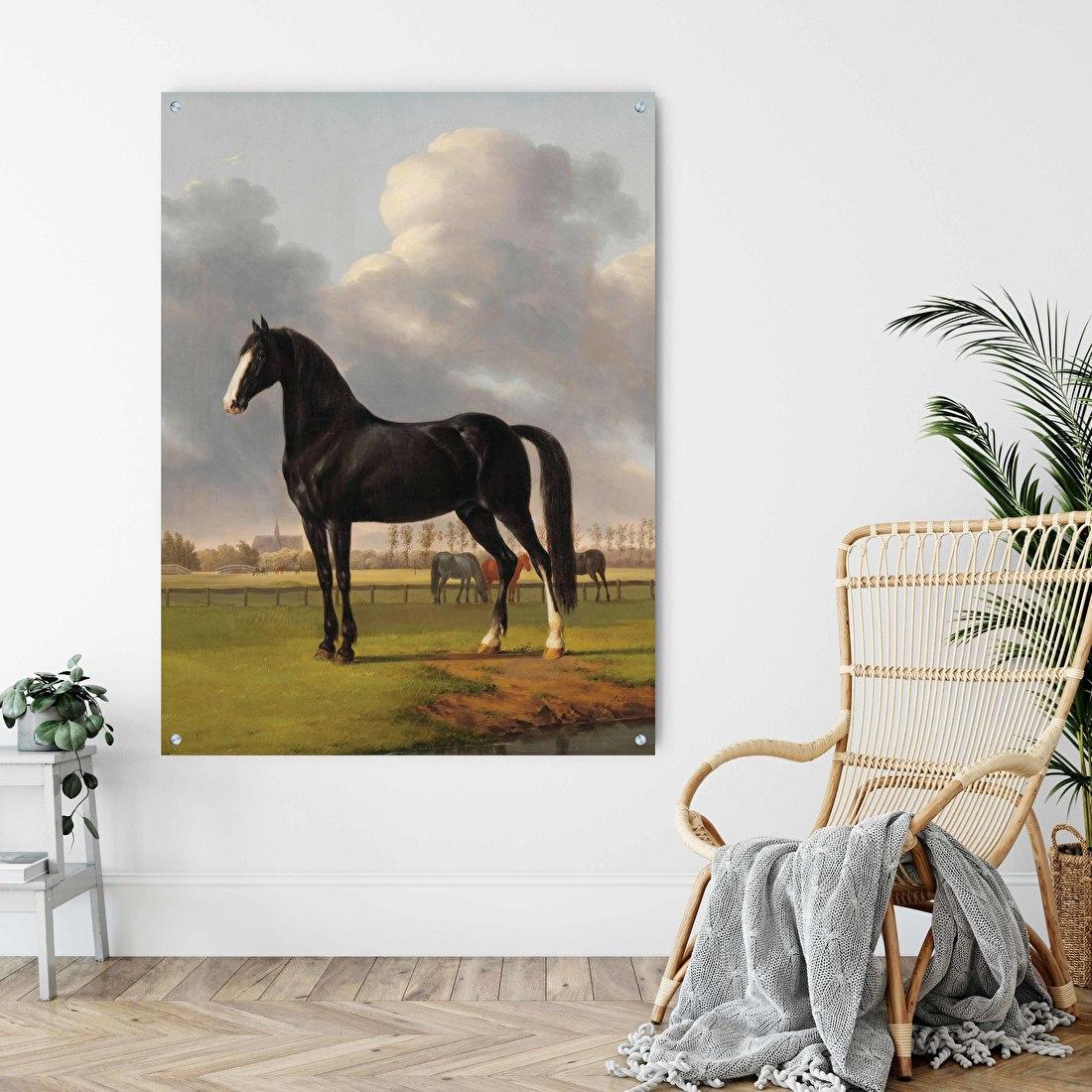 Schilderij met paarden