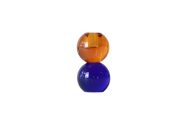 Crystal Color Crush kandelaar Twin, amber/blue