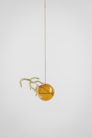 Flower Bubble hangend 8cm, amber