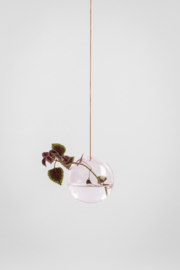 Flower Bubble hangend 11cm, smoke