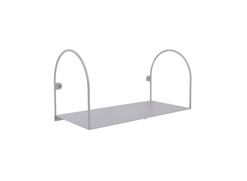 Bow shelf, small/grey