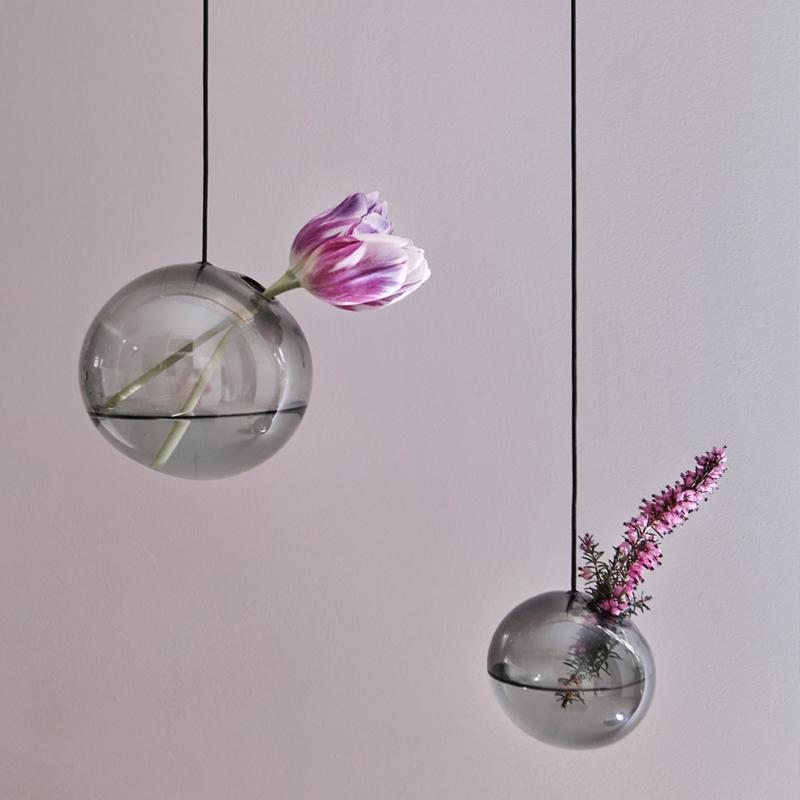 Flower Bubble hangend 11cm, smoke