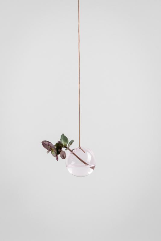 Flower Bubble hangend 8cm, pink