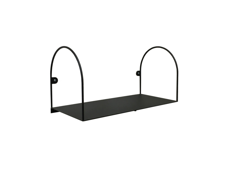 Bow shelf, small/black