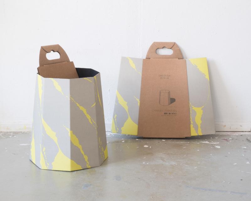 Chimney papierbak, Yellow/Grey