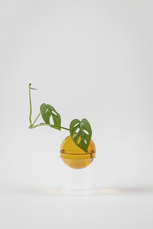 Flower Bubble staand 8 cm, amber