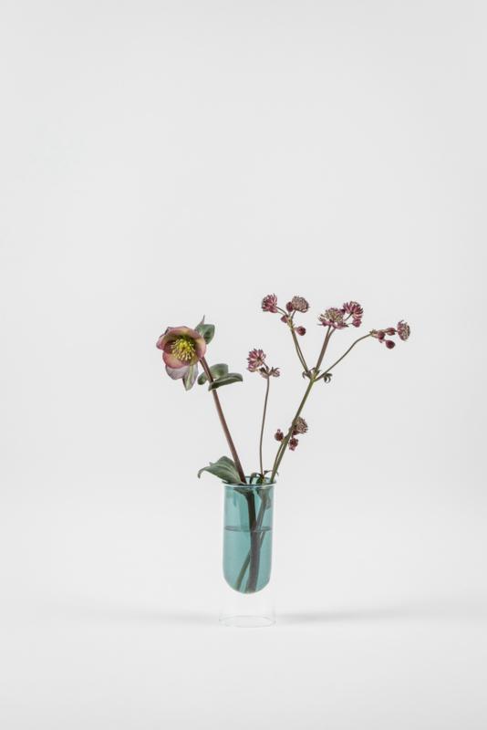 Flower Tube laag, cyaan