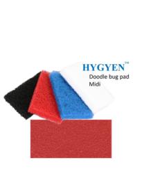 HYGYEN Doodlebug Pad Voor Midi Padhouder,  9,5 x 15,5cm Rood