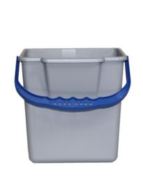 Emmer Met Brede Schenktuit  6L grijs/blauw