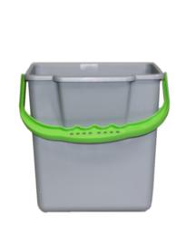 Emmer Met Brede Schenktuit 6L grijs/groen