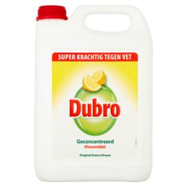 Dubro Geconcentreerd Afwasmiddel Original Extra Citroen 5000 ml